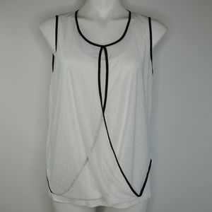 Kenneth Cole white layered tank top medium